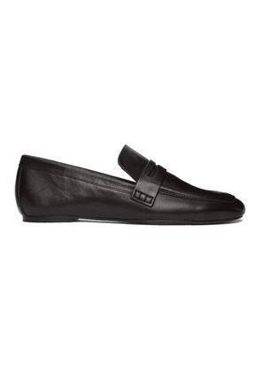 Joseph Black Leather Loafers