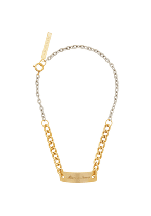 Marine Serre Gold and Silver Gourmette Necklace