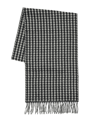 Cashmere Blend Houndstooth Knit Scarf