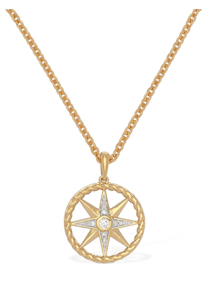 Compass Long Necklace W/ Mother Of Pearl