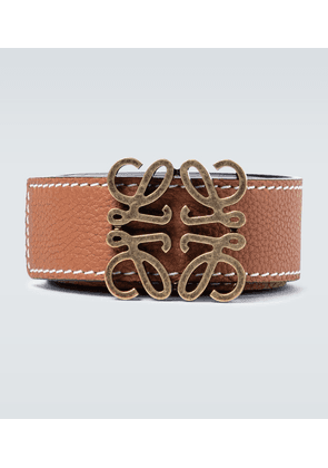 Anagram reversible leather belt
