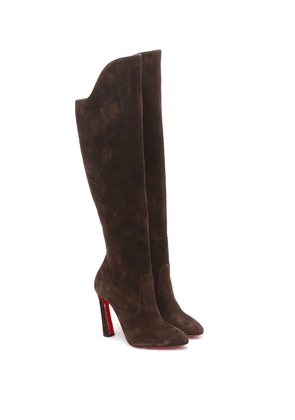 Eleonor Botta 100 suede knee-high boots