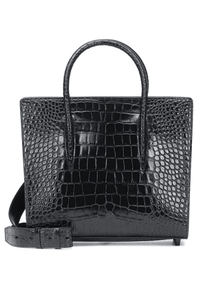 Paloma Medium croc-effect leather tote