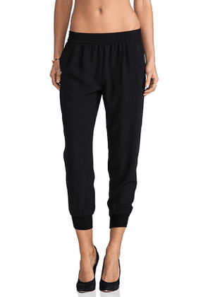 Joie Mariner Cropped Pant in Black. Size XS.