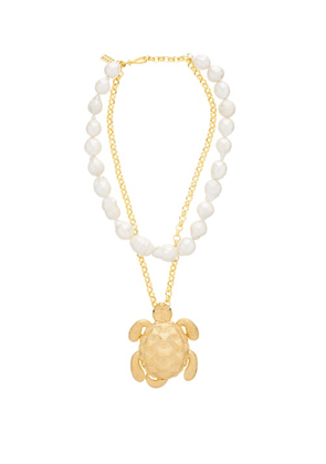 Begum Khan - Tortuga Pearl & 24kt Gold-plated Bronze Necklace - Womens - Pearl