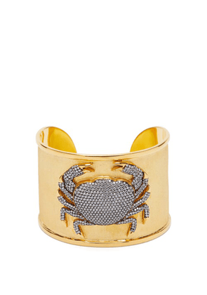 Begum Khan - Crystal-crab 24kt Gold-plated Cuff - Womens - Gold