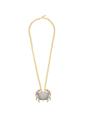 Begum Khan - Royal Crab Crystal & 24kt Gold-plated Necklace - Womens - Gold