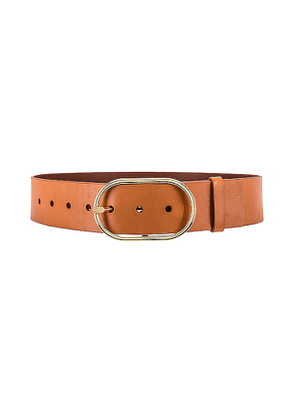 FRAME Grand Oval Buckle Belt in Brown. Size S,M.