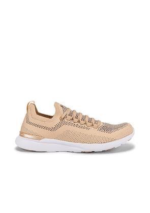 APL: Athletic Propulsion Labs TechLoom Breeze Sneaker in Beige. Size 7,7.5,8,8.5,9.