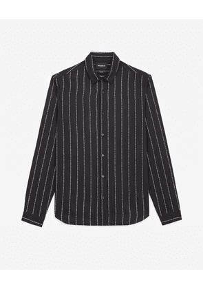 The Kooples - Striped black shirt with classic collar - MEN