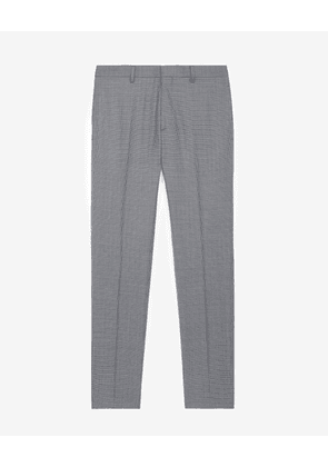 The Kooples - Grey patterned suit trousers in wool - MEN