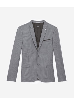 The Kooples - Grey wool jacket with houndstooth motif - MEN