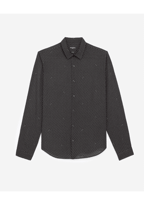 The Kooples - Black shirt with white motif - MEN