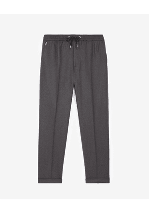 The Kooples - Grey wool trousers with elastic band - MEN