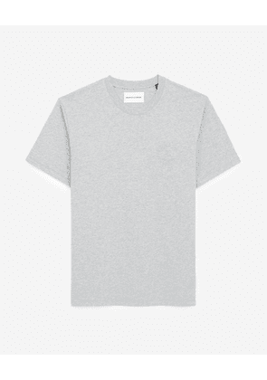 The Kooples - Grey T-shirt in cotton with embossed logo - MEN