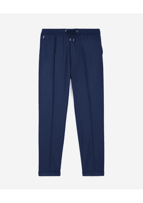 The Kooples - Blue wool trousers with elastic band - MEN