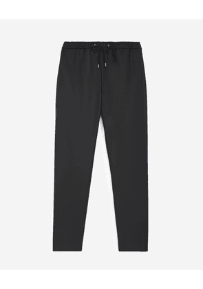 The Kooples - Roomy black trousers in wool w/elastic band - MEN