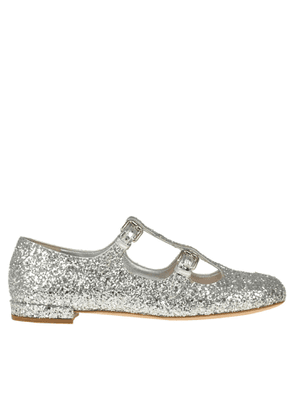 Glittered baby ballerinas