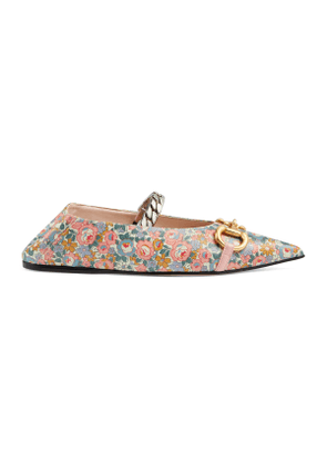 Women's Gucci Liberty online exclusive floral ballet flat