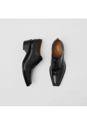 Burberry D-ring Detail Leather Heeled Oxford Brogues, Black