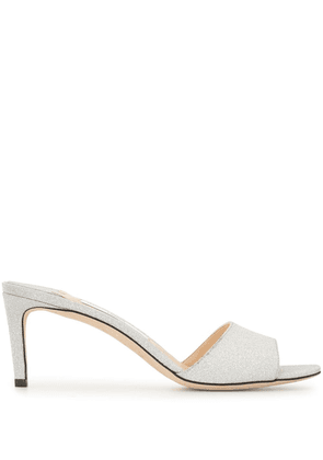 Jimmy Choo Stacey 65mm mules - SILVER