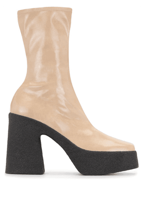 Stella McCartney platform ankle boots - Neutrals