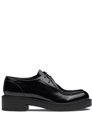 Prada chunky leather Derby shoes - Black