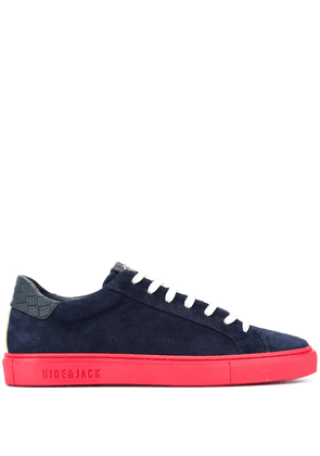 Hide & Jack crocodile-patch low-top sneakers - Blue