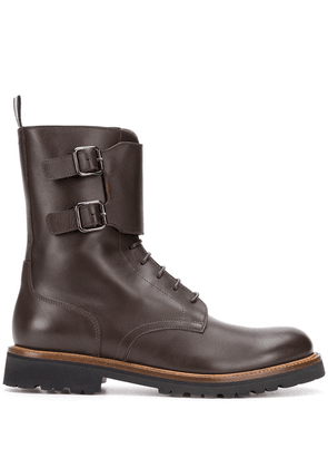 Scarosso ankle lace-up boots - Brown