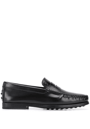 Tod's leather loafers - Black