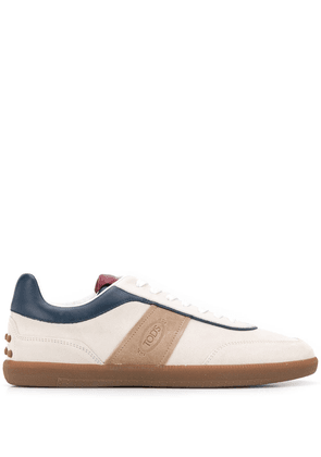 Tod's leather lace-up sneakers - White
