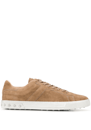 Tod's suede lace-up sneakers - Neutrals