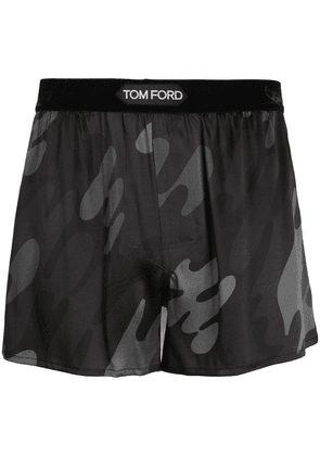 Tom Ford camoflauge silk boxers - Brown