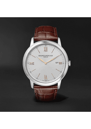 Baume & Mercier - Classima 42mm Stainless Steel and Croc-Effect Leather Watch, Ref. No. 10415 - Men - White