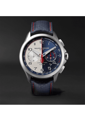 Baume & Mercier - Clifton Club Limited Edition Shelby Cobra Automatic Flyback Chronograph 44mm Stainless Steel and Leather Watch, Ref. No. 10344 - Men - Blue