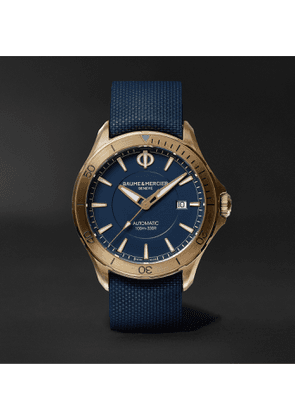 Baume & Mercier - Clifton Club 42mm Automatic Bronze and Rubber Watch, Ref. No. 10516 - Men - Blue