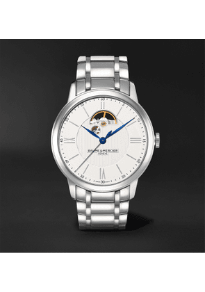 Baume & Mercier - Classima Automatic Open Balance 42mm Stainless Steel Watch, Ref. No. MOA10525 - Men - Silver