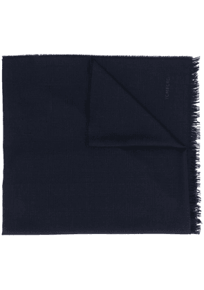 Tom Ford check pattern wool scarf - Blue