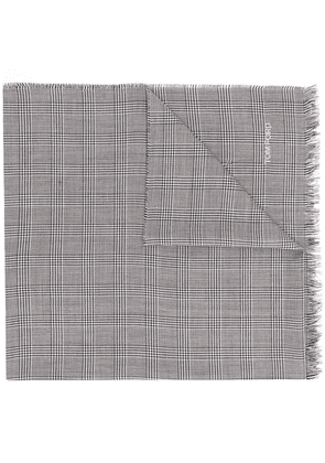 Tom Ford check pattern scarf - Black