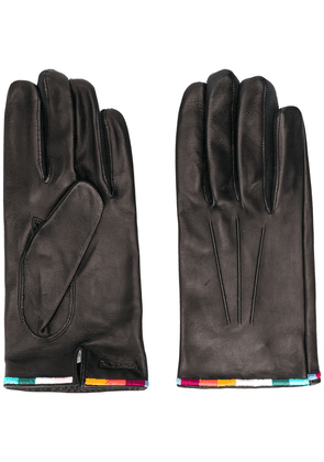 Paul Smith embroidered edge gloves - Black