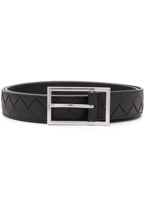 Bottega Veneta interwoven-design buckle-fastening belt - Black