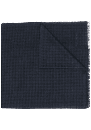 Tom Ford check pattern scarf - Blue
