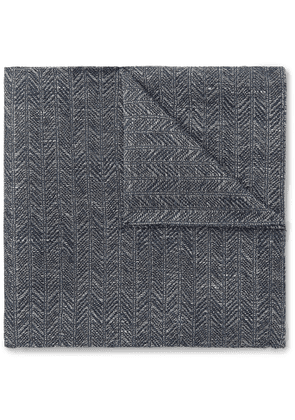 Favourbrook - Culcross Linen-Jacquard Pocket Square - Men - Blue