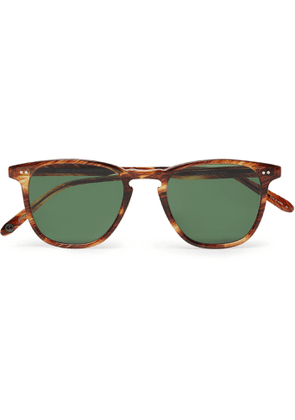 GARRETT LEIGHT CALIFORNIA OPTICAL - Brooks 47 Square-Frame Tortoiseshell Acetate Sunglasses - Men - Green