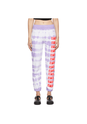 Ashley Williams Purple and White Money Lounge Pants