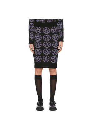Ashley Williams Black Pentagram Mid-Length Skirt