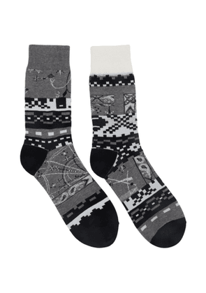 Sacai Grey Dr. Woo Edition Cotton Socks