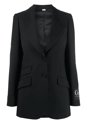 Gucci logo patch blazer - Black