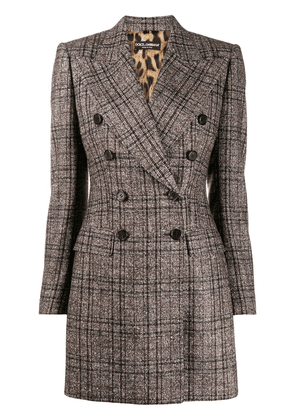 Dolce & Gabbana check pattern jacket - Brown