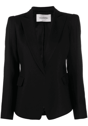 Valentino fitted peak lapels blazer - Black